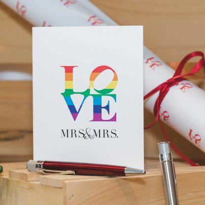 LOVE Mrs. & Mrs. card