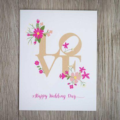 LOVE Happy Wedding Card