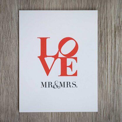 LOVE Mr. & Mrs. card