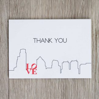 Philadelphia Skyline Thank You Notecards