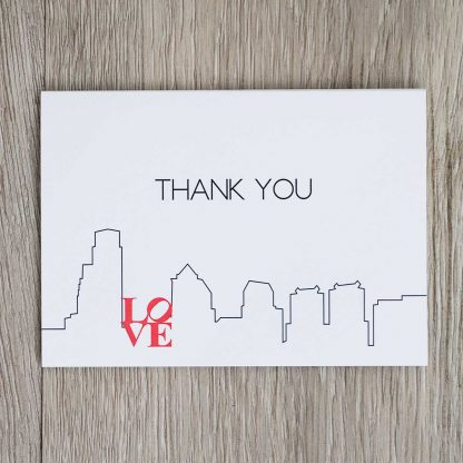 Philadelphia Skyline Thank You Notecards