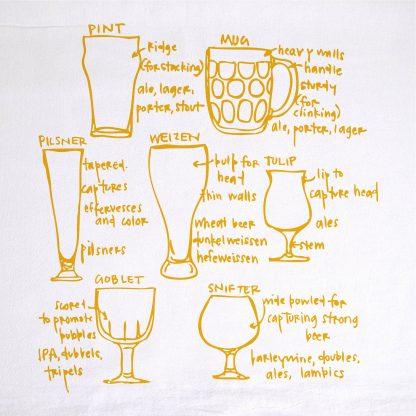 Beer Glassware Tea Towel