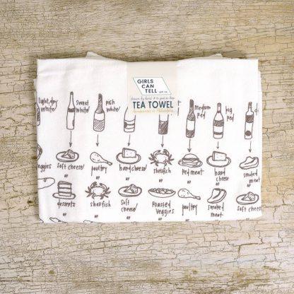 Food & Wine Pairings Tea Towel