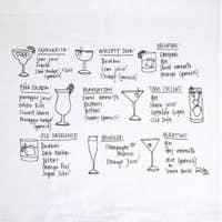Cocktail Recipes Tea Towel