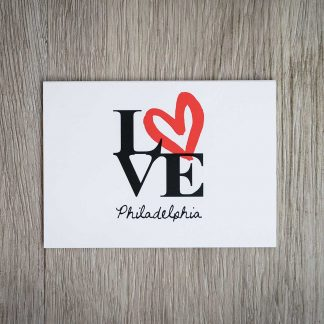 Philadelphia LOVE sign folded notecards