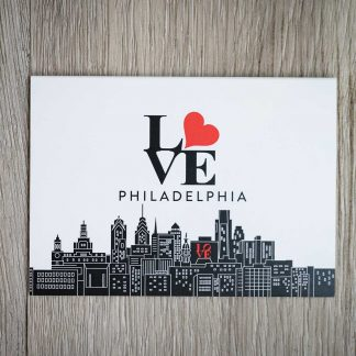 Philadelphia Skyline Folded Notecards