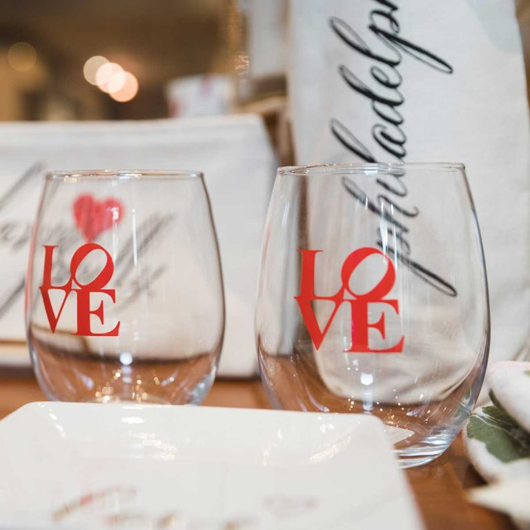LOVE wine glass