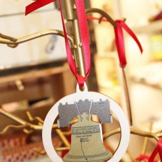 Liberty Bell wooden ornament