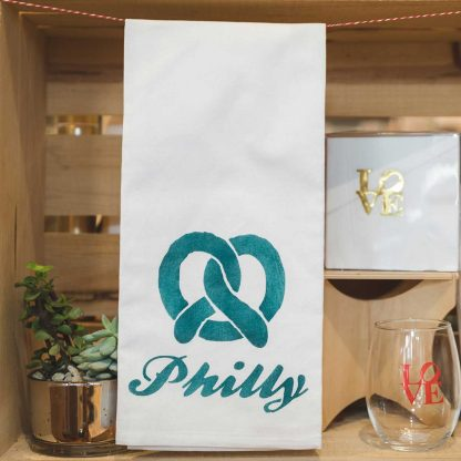Philly Pretzel tea towel