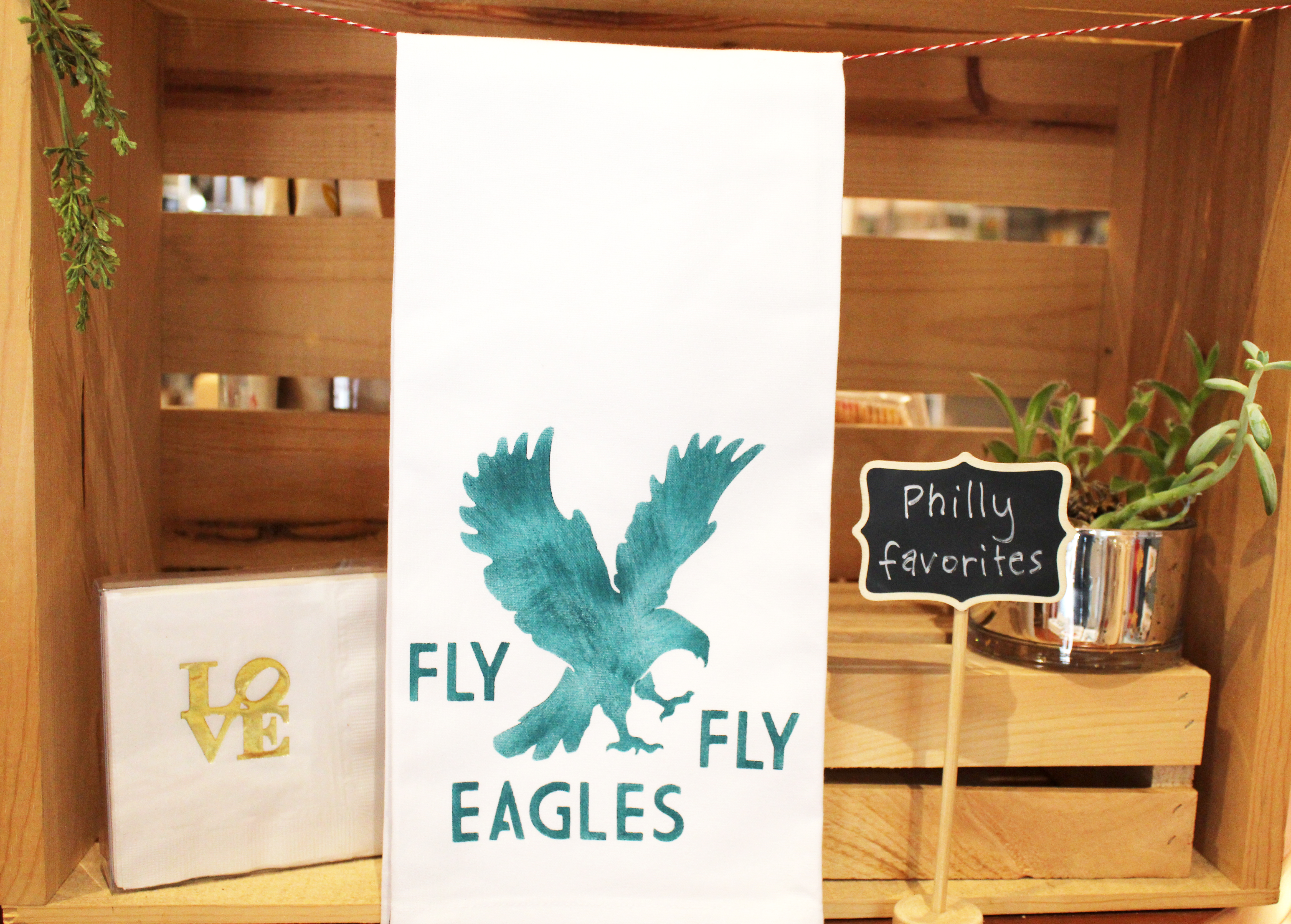 Philadelphia Eagles tea towel