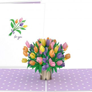 Tulips 3D card
