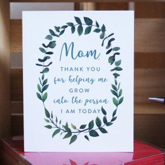 Mom Thank You card
