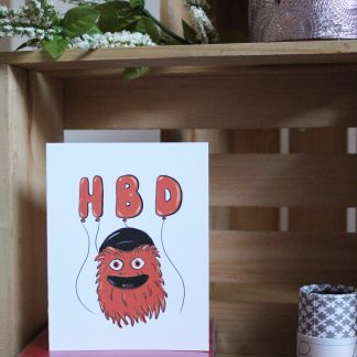 Gritty Birthday card