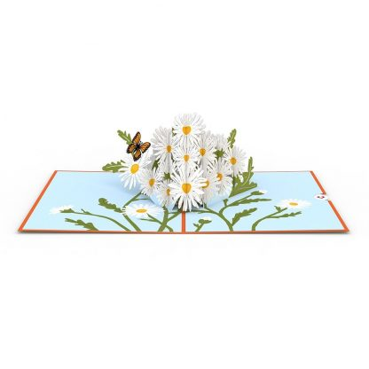 Daisies with Monarch Butterflies 3D card