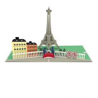 Paris Love Scene 3D card