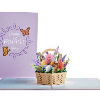 Mother's Day Flower Basket 3D card