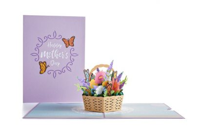 Mother's Day Flower Basket 3D card