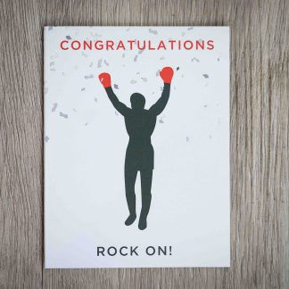 Rocky Congratulations card