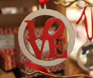 LOVE wooden ornament