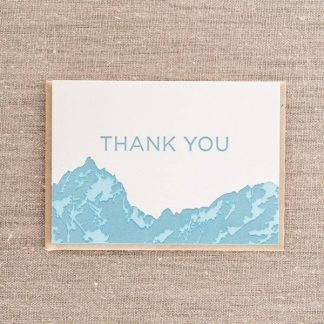 Thank You Mountains card