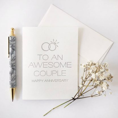 Awesome Couple Anniversary Card