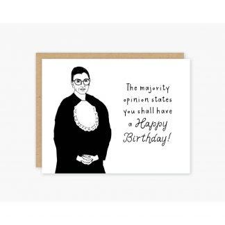 Ruth Bader Ginsburg Birthday Card