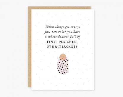 Baby Straitjackets Card