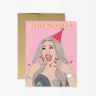 Party Cardi Birthday Card