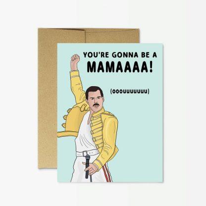 """Freddie Mercury """"New Mama"""" Card"""
