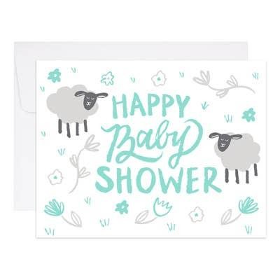 Ba Ba Baby Shower card