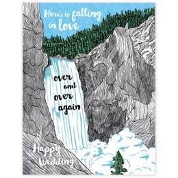 Falling in Love Wedding Card