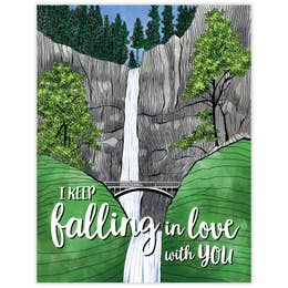 Falling in Love Card
