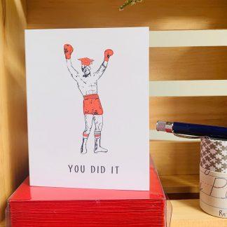 Rocky Graduation Card