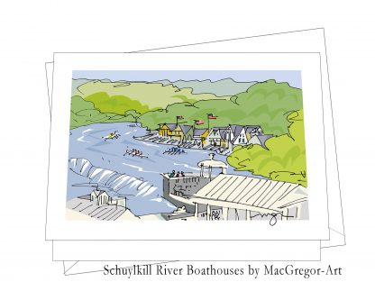 Boathouse Row card