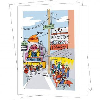 Cheesesteak Corner card