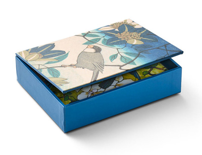 BIRDS AND FLOWERS BOXED NOTECARDS