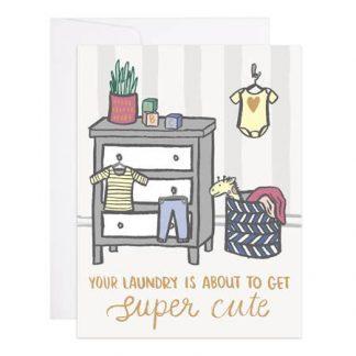 Super Cute Laundry card