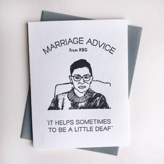 RBG Marriage Advice Card