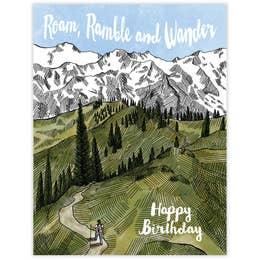 Roam Ramble Wander Card