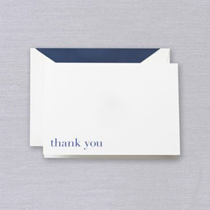 Bodoni Blue Thank You Notecards