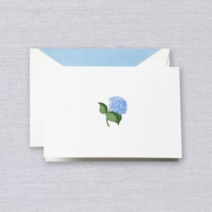 Engraved Blue Hydrangea Notecards