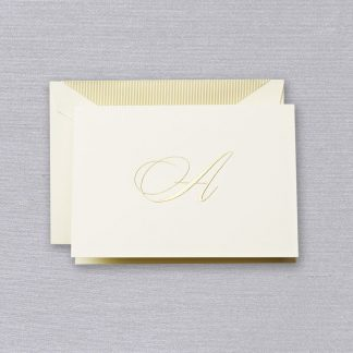 "Engraved ""A"" Initial Notecards"
