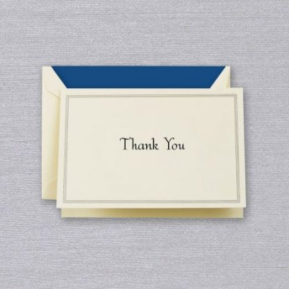 Regent Blue Thank You Notes