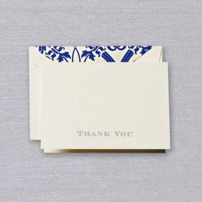 Gold Regency Thank You Notes