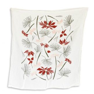 Poinsettia & Pine Towel