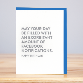 Facebook Notifications Birthday Card