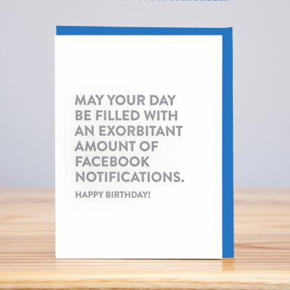 Facebook Notifications Birthday Card