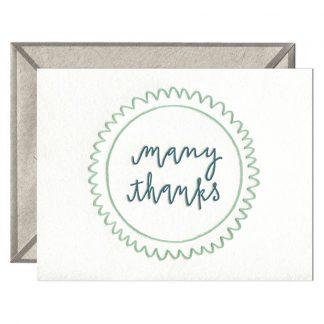 Many Thanks Greeting card