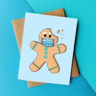 Masked Gingerbread Card