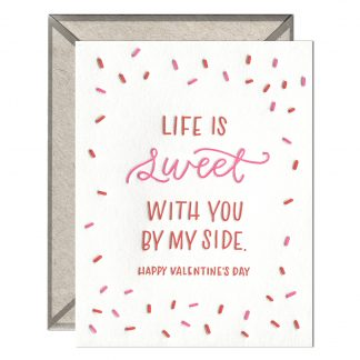 Life is Sweet Valentine card